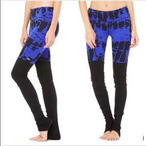 All blue black goddess ruched legging yoga wear M